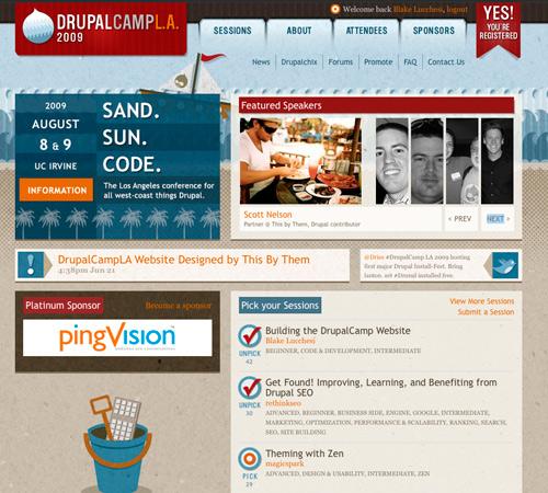 DrupalCampLA Homepage